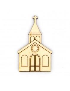 Silueta de madera iglesia