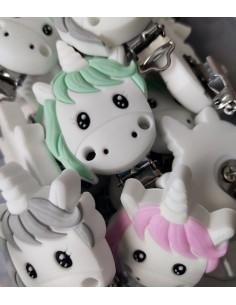 Clip de silicona unicornio