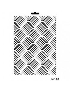Stencil Mix media textura MA54