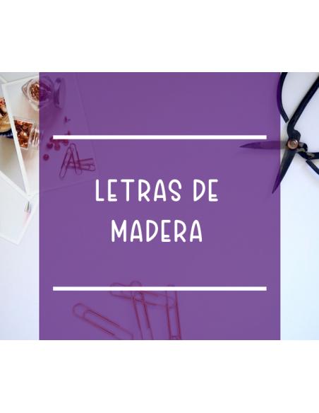 Letras de madera antibaba