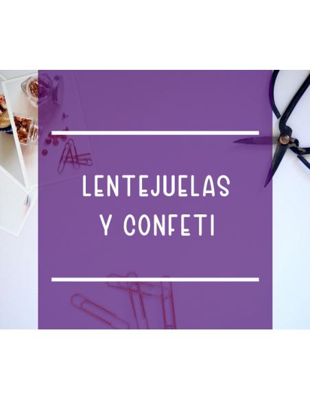 Lentejuelas y confeti
